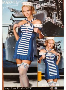 Seksikas koolitüdruku kostüüm Meremees